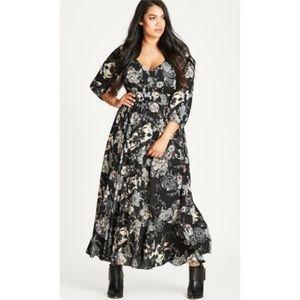 CITY CHIC black floral dress
